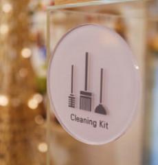 Clean Air / 클린에어 / 전면형 화장실 표지판