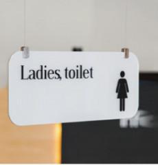 Gorgeous / 고져스 / 천장형 화장실 표지판