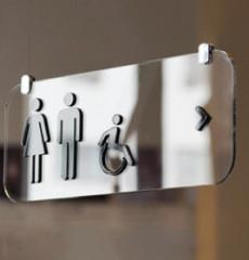Casper / 캐스퍼 / 천장형 화장실 표지판