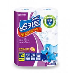 스카트® 향균행주타올 36매-2롤[2롤/1백,12백/케이스]