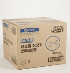 유한킴벌리 세이브 점보롤 250m2겹16롤 화장지/45321