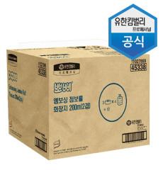[무료배송]뽀삐 엠보싱 점보롤화장지 200m (2겹)/45338